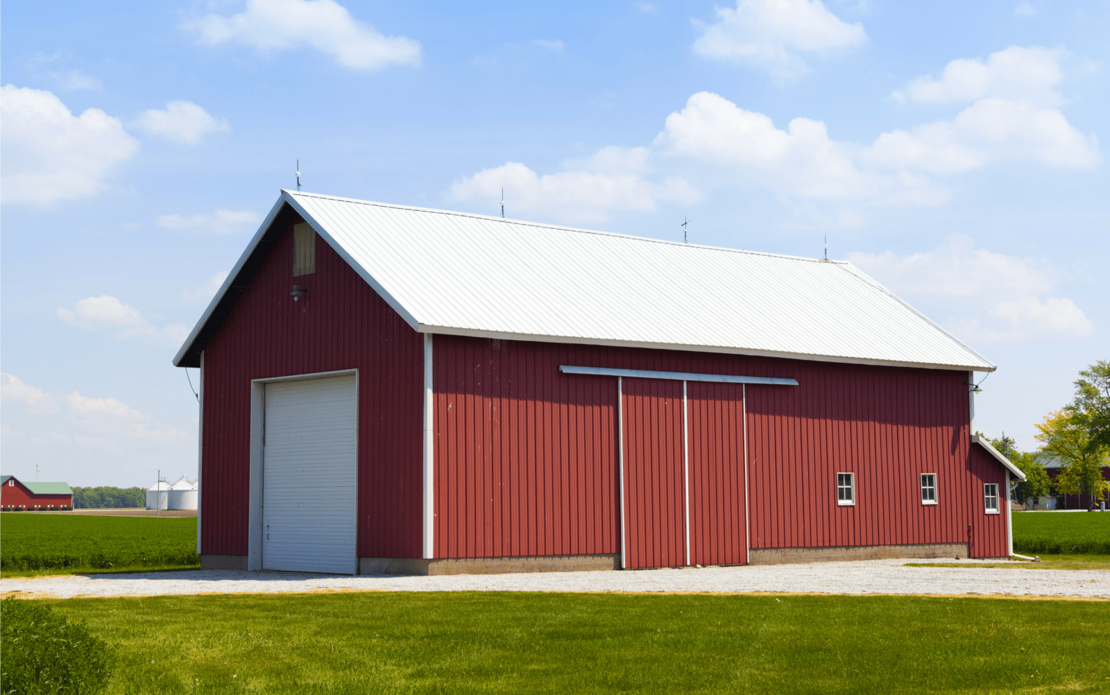 red pole barn
