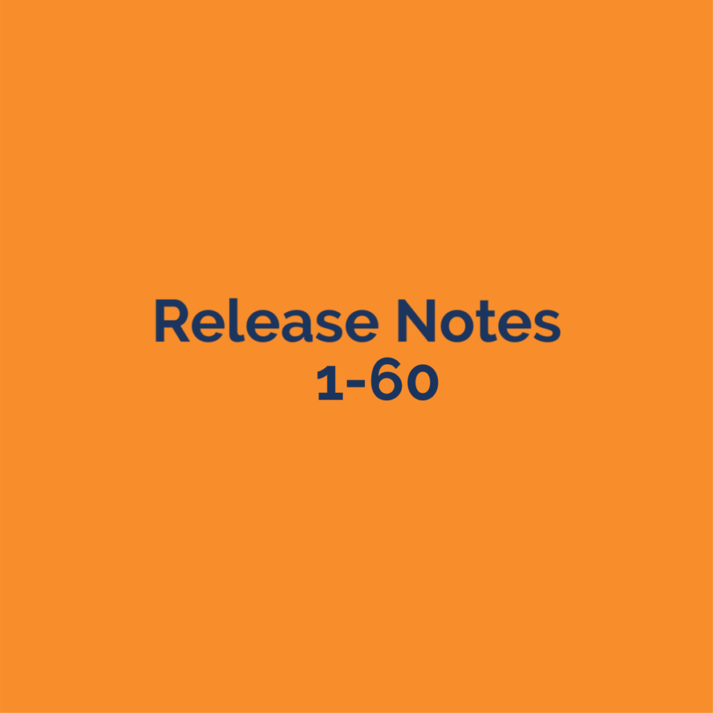 release notes 1-60