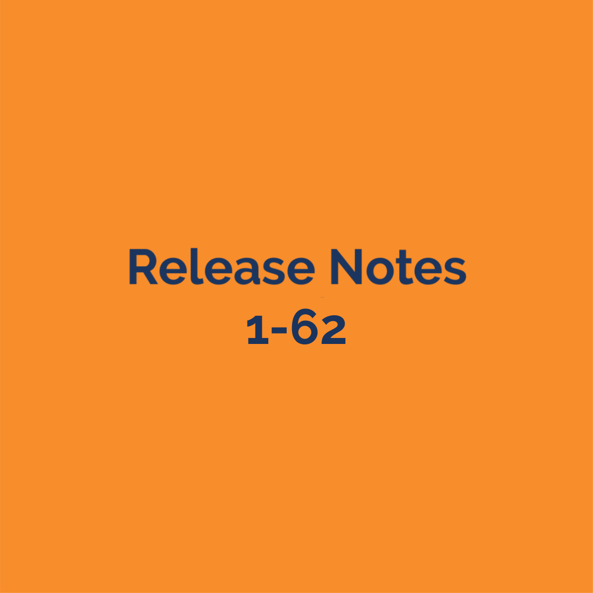 release notes 1-62