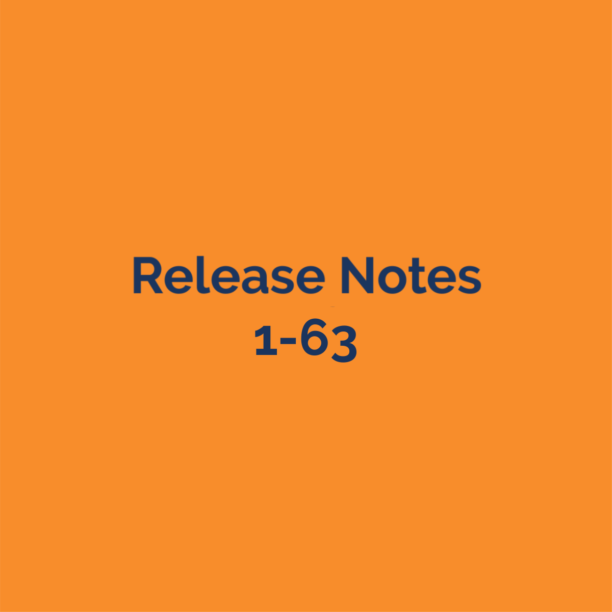 release notes 1-63