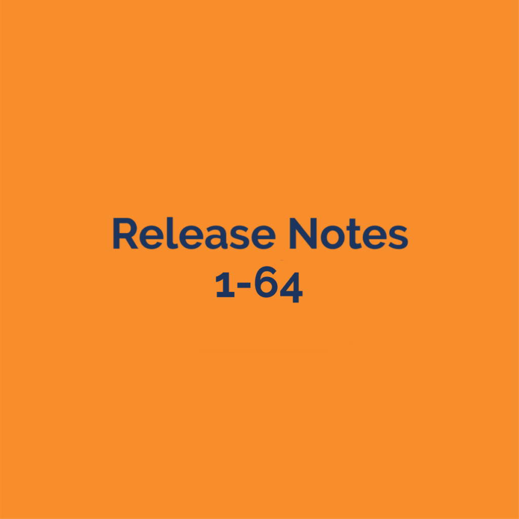 release notes 1-64